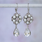 Pearl and Crystal Earring, Pearl Bridal Earring, Bridal Earring
