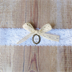 Jane Eyre Bridal Garter I Married Him White Antiqued Brass Cameo Quote Bronte