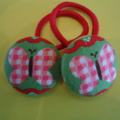 23mm Butterfly fabric button hairties