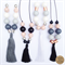 Metal & Marble Necklace