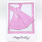 Birthday Card - Origami Dress