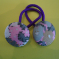 23mm floral liberty fabric button hairties