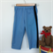 Baby Sky Blue Trousers with Black Velvet Ribbon - Made to Order