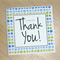 Thank you card - choose your colour!