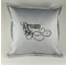 Cushion Cover,  Silver Fabric, with Embroidered Words - Dream Big.