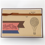 Thank You Card - Hot Air Balloon