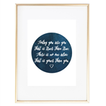 """Today you are you"" Dr. Seuss Quote Print"