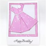 Birthday Card - Origami Dress