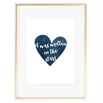 """""""It was written in the stars"""" Typography Print"""