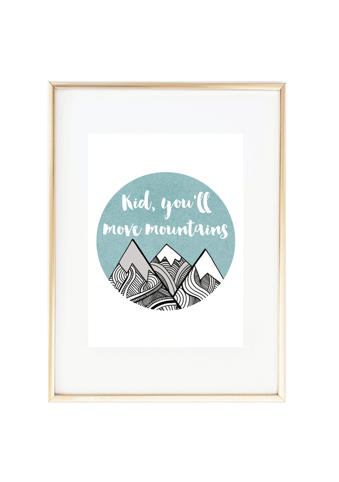 Kid Youll Move Mountains Dr Seuss Quote Print Misiu Papier