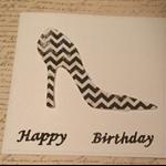 Happy Birthday Shoe  card