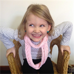 crochet pink infinity scarf | girl | gorgeous birthday gift 2 - 8+ years