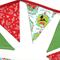 Christmas Bunting - Red / Green Flags. Decoration, Vintage Style!
