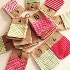 READY TO SHIP Christmas advent calender bunting