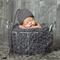 Grey Sleeper Hat / Newborn Photography Prop