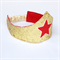 Glitter Crown and Cuff Set - Gold and Red Star