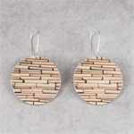 Photographic Earrings - Pattern Play - Gold Books
