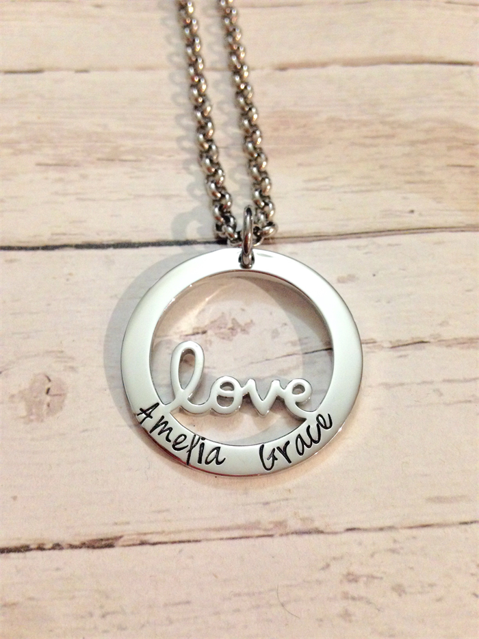personalised sted design name family circle