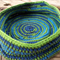 Crocheted basket made from pure wool