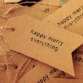 Packet of 5 gift tags Christmas wrapping card