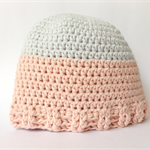 Organic Cotton Baby Hat | Beanie | Pink + Grey