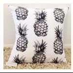 Black Pineapple Cushion Cover