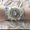 Vintage Bride Cuff Bracelet Wrist Corsage Lace Tulle Silk Satin