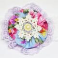 Spring Flower Headband - Floral Blue