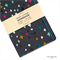 Charcoal Grey/Multi-color Crosses Fabric Covered Notebook