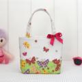 Mini Tote Bag for Little Girls - Spring Butterflies