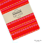 Red Pop Fabric Covered Notebook