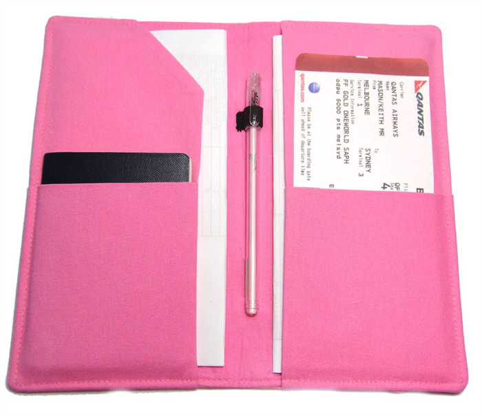 Pink And Blue Whale Family Passport Travel Wallet