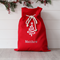 Large Personalised Santa Sack -  Tree Red