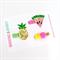 Tropical Clip Set - Pineapple  - Watermelon - Pom Pom