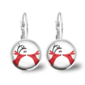 Under the Mistletoe Lever Back Glass Earrings