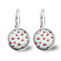 Retro Cherry Lever Back Glass Earrings