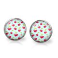 Retro Cherry Stud Back Glass Earrings