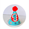 Baby Boy's First Birthday party hat . Red, Aqua & Grey