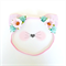 Glitter Kitty Ears Headband - Pink Mint