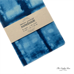 Indigo Shibori Fabric Covered Notebook