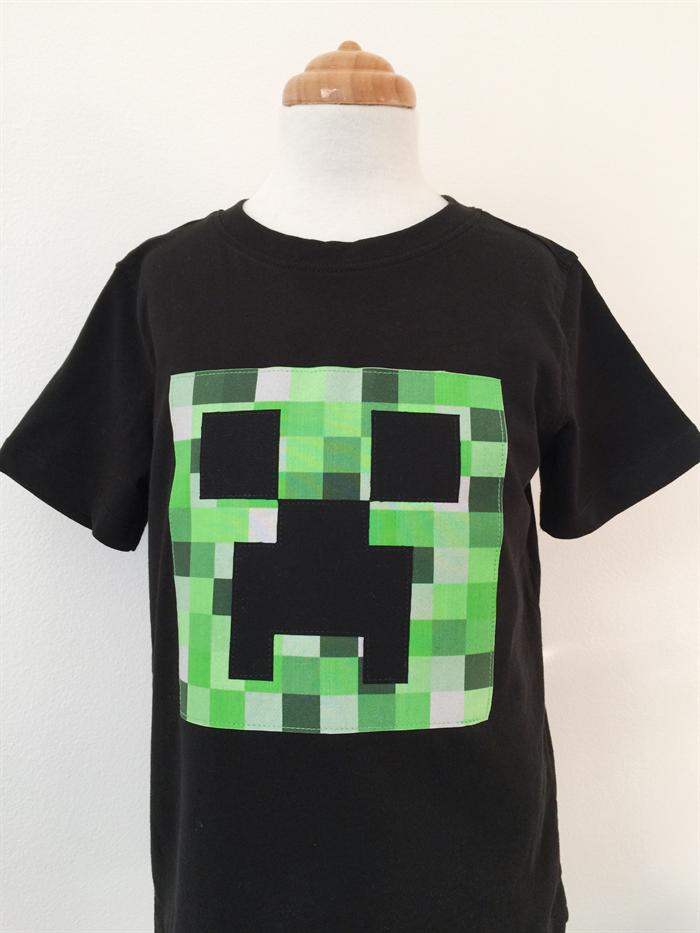 0991e4e59 T-shirt - Creeper - Minecraft - Black - Green - Video Game - Boys | retro  bimbi | madeit.com.au