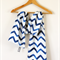 Twig Scarf - Nautical Blue Chevron - NEW!