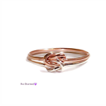 Double knot ring, two toned, rose gold and silver