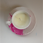 Soy Vanilla Bean Tea Cup Candle - Blossom Pink