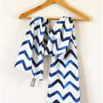 Nautical Blue Chevron Scarf