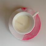 Soy Vanilla Bean Tea Cup Candles - Pink Peonies