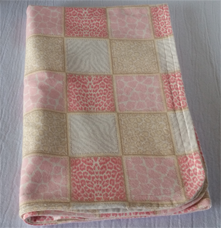 Cosy Flannelette Baby Blanket / Cot Cover / Pram Cover / Play Mat - Baby Girl.