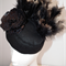 Gold Nightlife.. SALE autumn winter felt handmade hat headpiece races gold black
