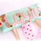Mint Pink Gold Floral - Felt Name Plaque Hairclips organiser, hairbows holder