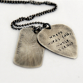 Mens Necklace, Husband Gift, Guitar Pick Necklace, Music Speaks Jewellery